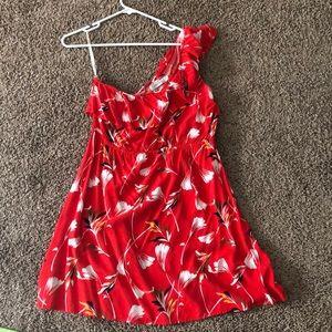 Mink pink - size L - red - one shoulder dress